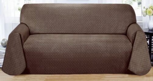"MATRIX  ""NON-SLIP"" EXTRA LONG SOFA COUCH COVER----BROWN----COMES IN 3 COLORS"