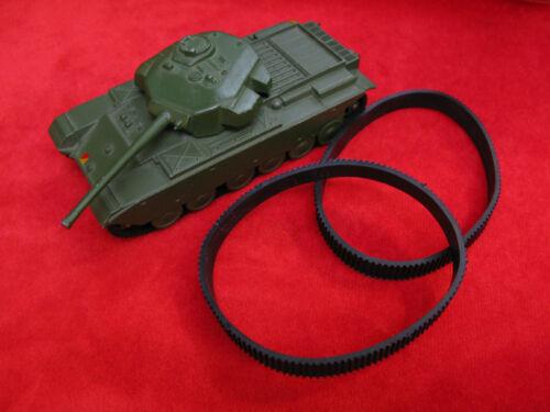 Dinky Toy Tank Treads for 651 Centurion Tank Pair Black Rubber Tracks