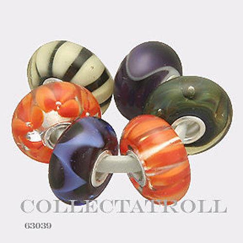 Authentic Trollbeads Silver Organic Kit - 6 Beads 63039  TGLBE-00024