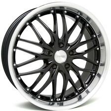 "18"" MRR GT1 Wheels For BMW E46 M3 18 Inch Black Staggered Rims Set  (4)"