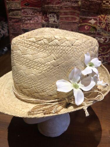 Peter Grimm Beige Straw Hat Wide Brim Sun Hat