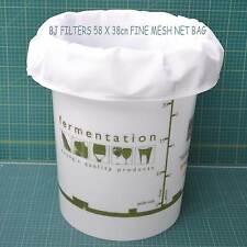 HOME BREW -WINE & CIDER -FINE MESH BAG 58 X 38cm FITS  25ltr FERMENTING TUB F/P