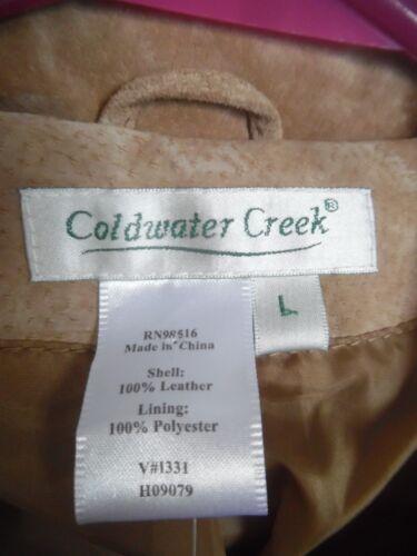 Coldwater Kvinder Læder Suede Beige Coat Nwot Tan Creek Large Jacket PrR1qPa
