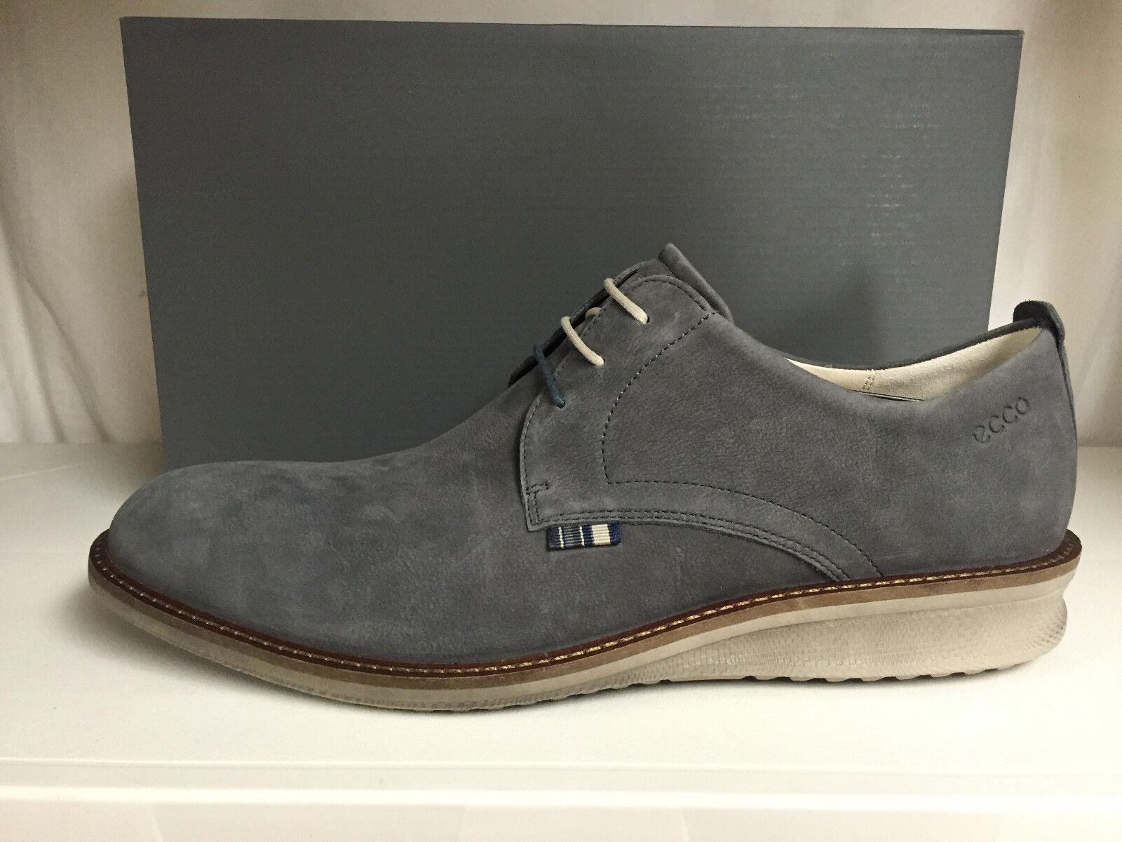 Zapatos De Vestir Ecco Contourojo para hombre Plain Toe Oxford Con Cordones Cuero gris