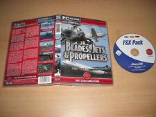 BLADES JETS & PROPELLERS Pc DVD Add-On Flight Simulator Sim 2004 & X FS2004 FSX