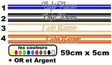Stickers autocollant réservoir moto café racer / bobbers 59x5cm