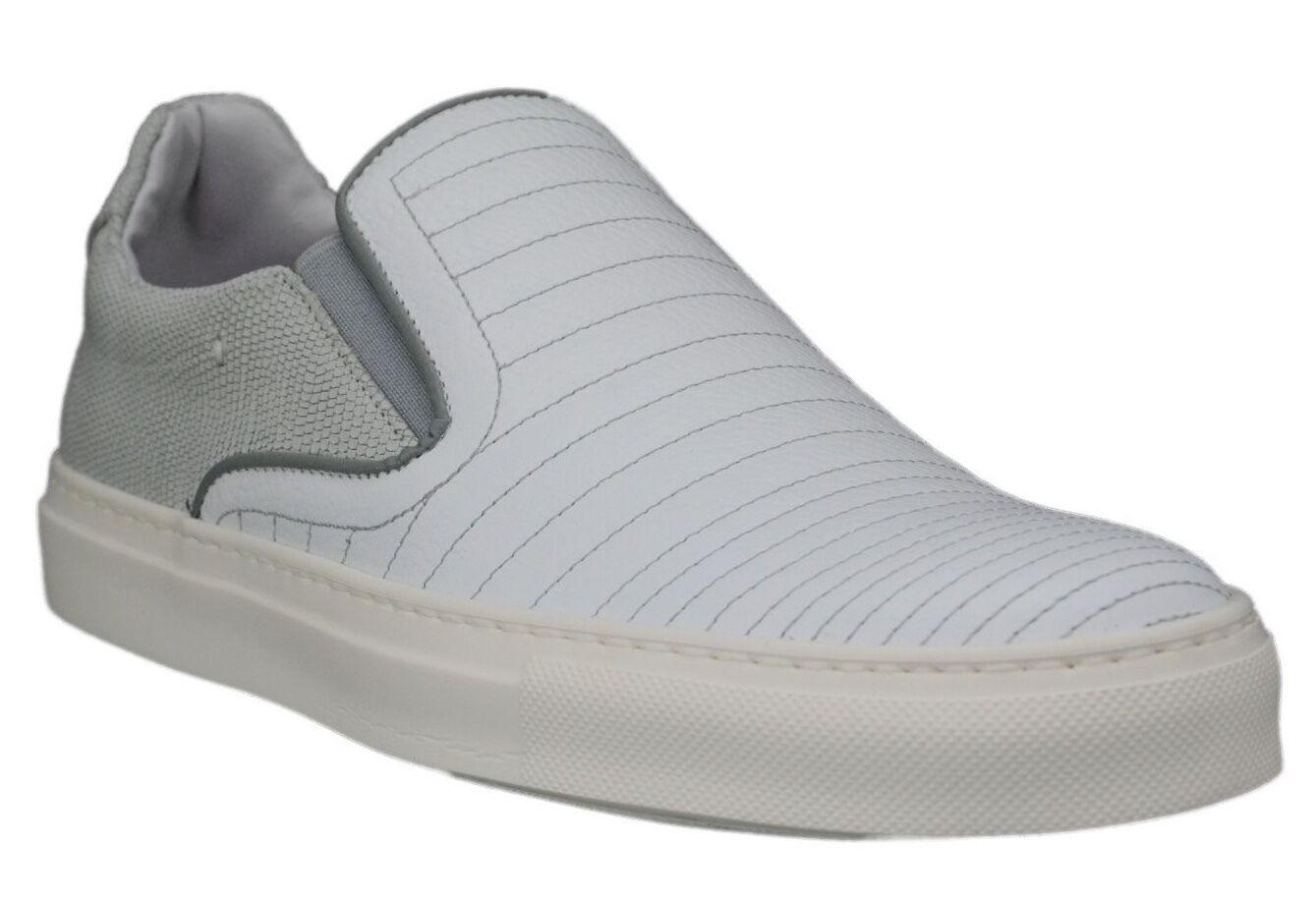 Scarpe casual da uomo  uomos Kenneth Cole New York Team Work White Slip On Sneakers