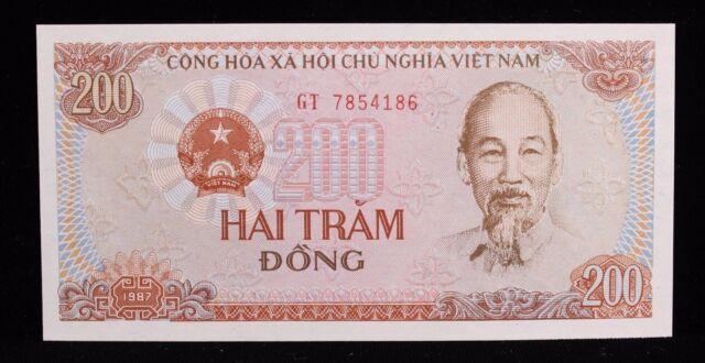 1987 Vietnam 200 Dong Banknote P100 GT 7854186