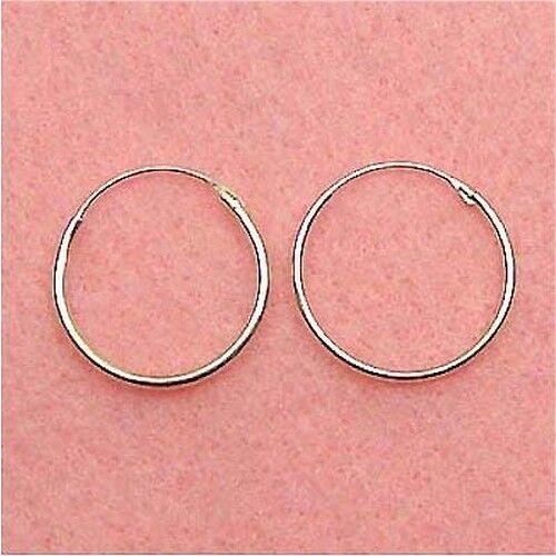ER046 20mm Hoop Earrings Sterling Silver