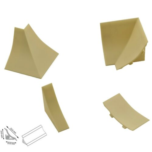Abschlussleisten Winkelleisten Arbeitsplatte Wandabschlussleiste 44 Farben  23mm