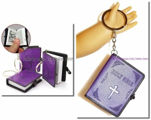 Mini Bible Purple Leather 18 in Doll Clothes Accessory For American Girl Dolls