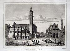 KRAKAU RATHAUS RATHAUSTURM KRAKÓW WIEŻA RATUSZOWA 1840 HÔTEL DE VILLE KRACOVIE