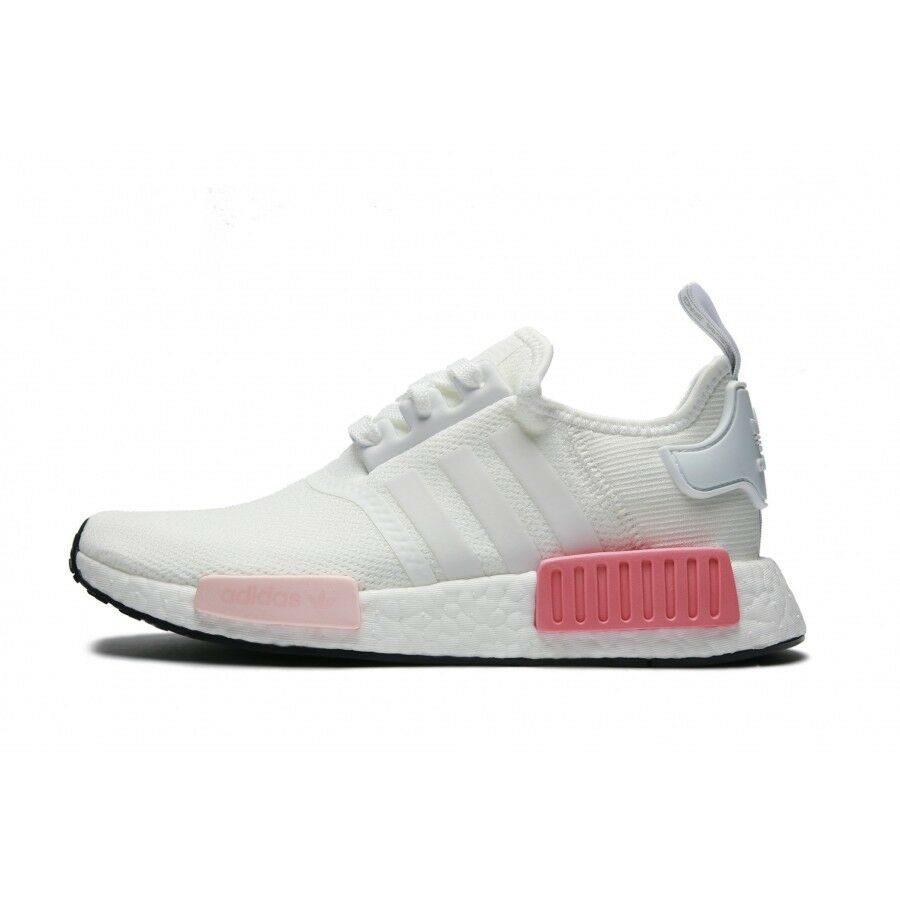 Adidas Originals by9952 NMD R1 Mujer Mesh by9952 Originals Icy Rosa Blanco Rose Runner silvestres raras Casual Shoes 108341