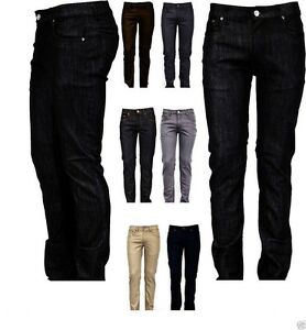 Victorious-Mens-Skinny-Fit-Jeans-Raw-Denim-Pants-Casual-Stretch-Trousers-938