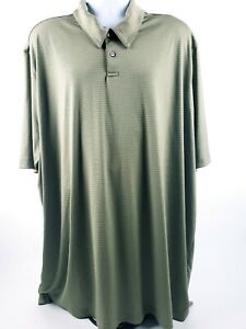 Details about Axist Mens Polo Shirt Green Short Sleeve 4XLT 100% Polyester