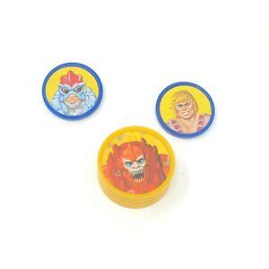 Stratos VINTAGE HE-MAN MOTU ORKO FIGURE MAGIC TRICK COIN Plastic Chip PARTs lot