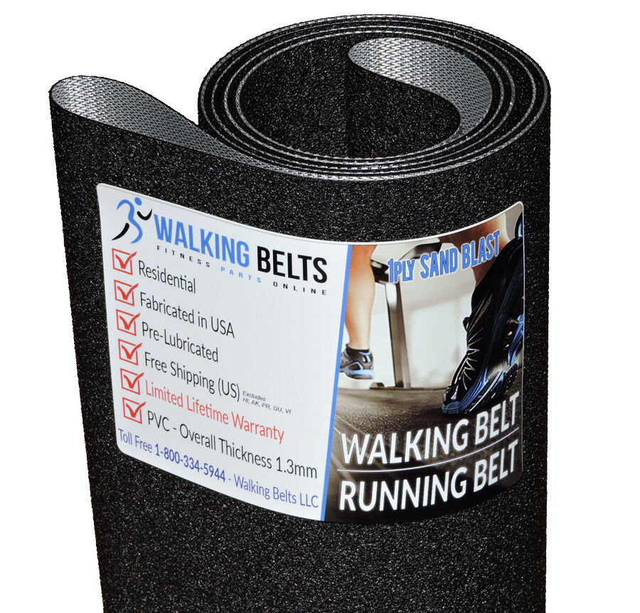HealthTrainer 9000HR Treadmill Running Belt 1ply Sand Blast + + + Free 1oz Lube 6d28b7