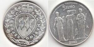 Monnaie 5 Euros argent San Marino 2003