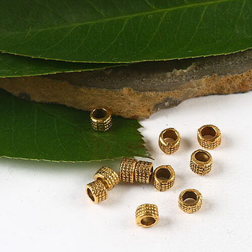 100pcs dark gold-tone round spacer beads h2335