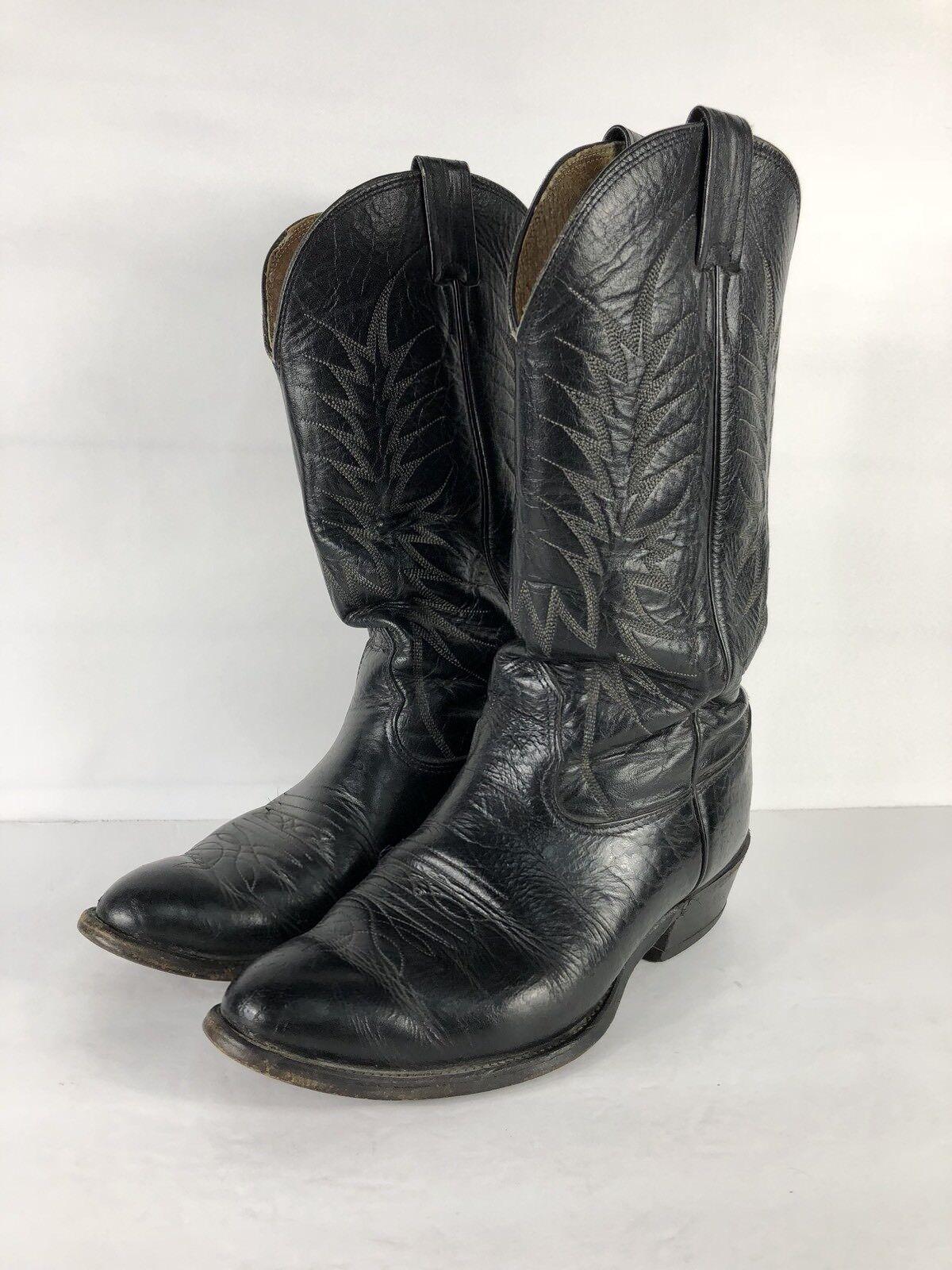 NOCONA BOOTS Men's Gray & Black Classic Size Leather Western Cowboy Boots Size Classic 7.5 2E 15d91d