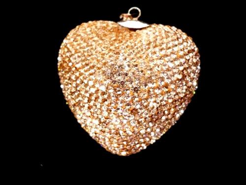 Größen Glitzer TOP Herzanhänger 925 Silber geschliffene Glaskristalle versch