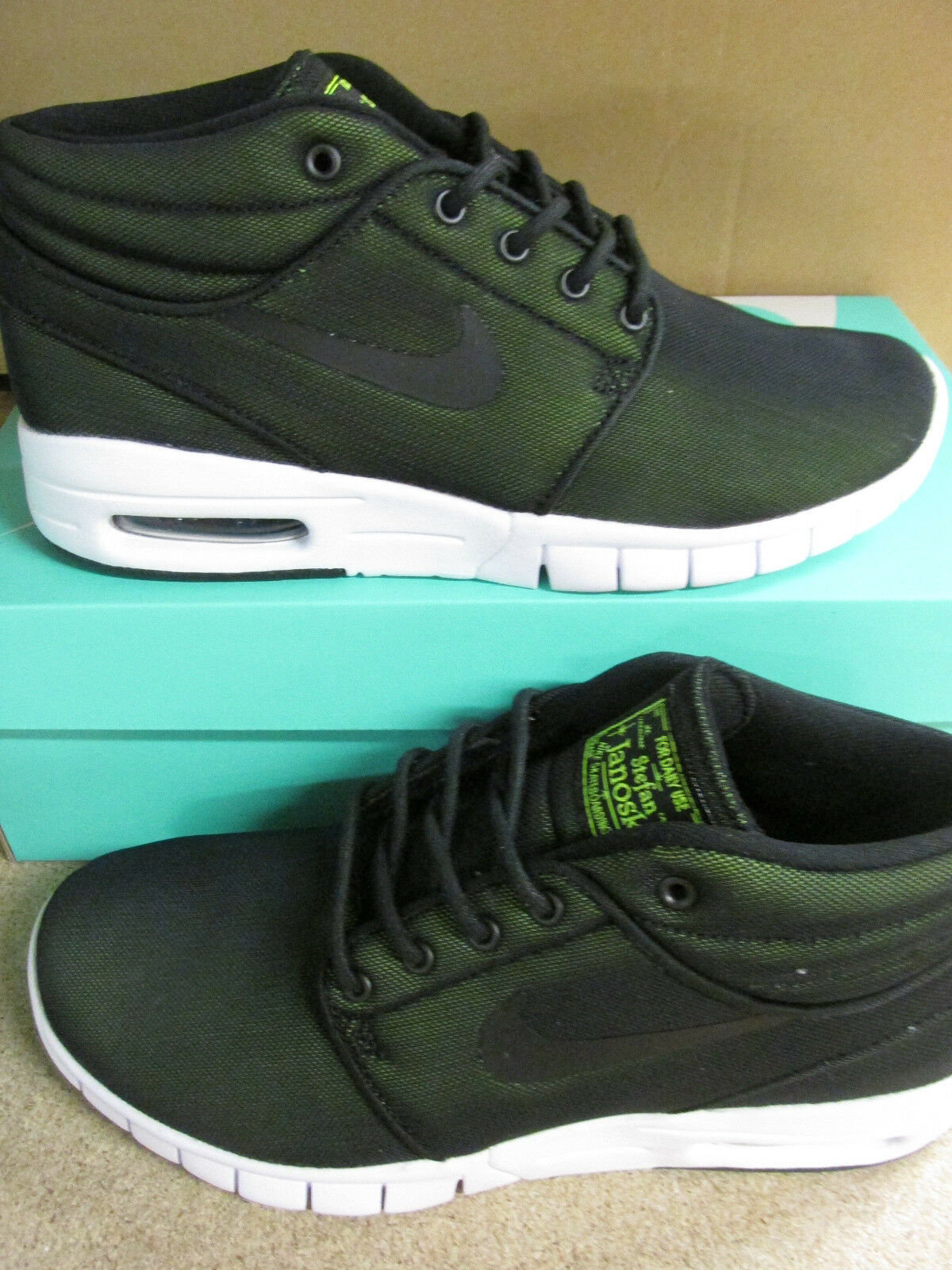 nike SB stefan janoski max mid mens trainers 807507 007 sneakers shoes