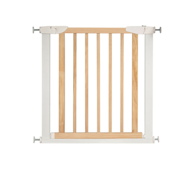Superieur Safety Gate Wooden Vintage Baby Doorways Barrier Door Fence W/ Pressure  Mount