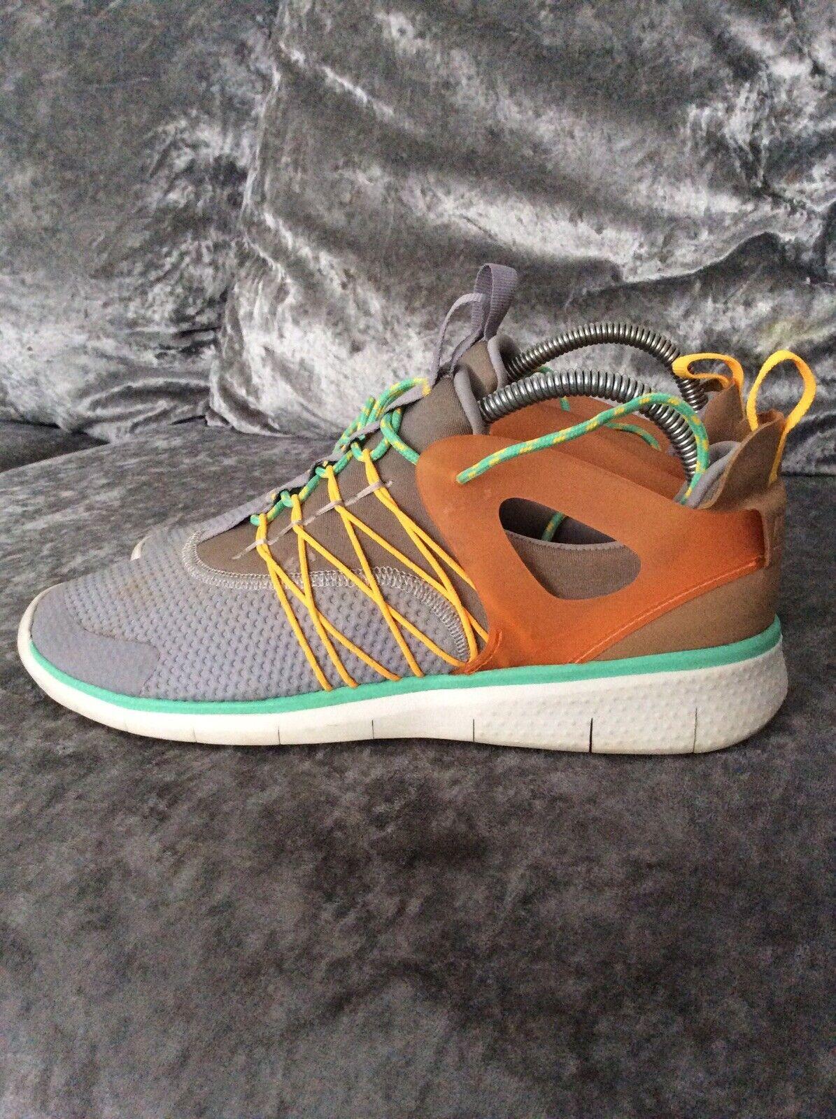 Femme Nike Free Viritous Gris Orange Baskets 725060 003 UK Taille 6 Très bon état