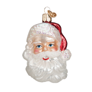 034-Mid-Century-Santa-Head-034-40275-X-Old-World-Christmas-Glass-Ornament