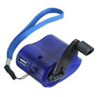 USB Hand Crank Manual Dynamo Cell Phone Charger Emergency For MP4 MP3 Mobile OZ