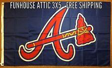 """ATLANTA Braves MLB Flag 3x5 Baseball """"National League"""" Banner BRAND NEW"""