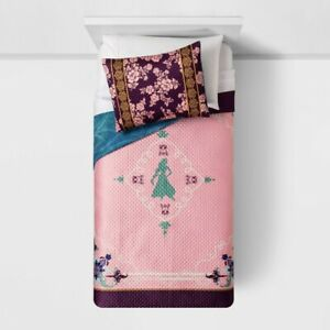 Disney-Aladdin-Twin-Quilt-amp-Sham-Jasmine-Pink-Purple-Gold