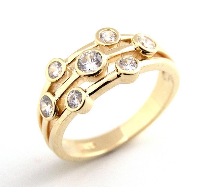 Raindrop Ring Diamond-Unique 1 2ct Scatter Ring 9ct gold