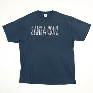 Destroyed-Faded-Black-Santa-Cruz-T-Shirt-XL-Grunge-Distressed-Spell-Out-Skate