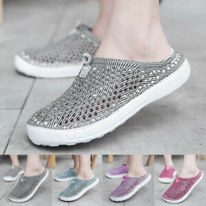 2019-Women-Beach-Sandals-Hollow-Out-Shoes-Casual-Breathable-Flats-Slippers-Slip