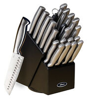 CHEF Cutlery Block Set 22 PIECES Stainless Steel Knives Knife Brushed Satin NEW