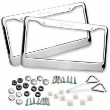 Zone Tech 2x Slim Chrome Stainless Steel License Plate Frame Screw Cap 4 Hole