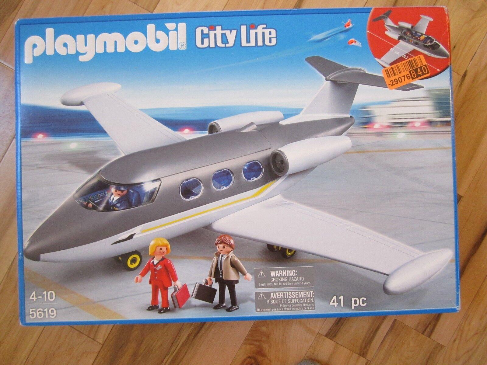 PLAYMOBIL 5619 città Life Airplane Passengers Set  41 pc. Lot Private Jet nuovo giocattolo  garantito