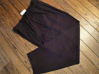 Tribal Triple Pleat Wine Dress Pants Size 18
