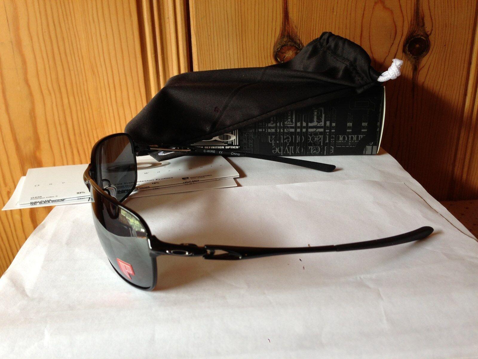 b2e77963bb Oakley OO404601 C Wire Polished Black black Iridium Polarized Mens ...