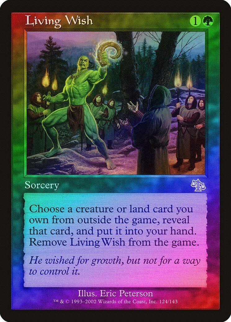 Living Wish FOIL Judgment NM-M Green Green Green Rare MAGIC THE GATHERING MTG CARD ABUGames 730052