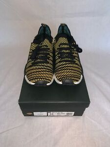 Details zu ADIDAS NMD R1 STLT PK PRIMEKNIT AQ0934 YELLOW BLACK Men Sz 12 WORN ONCE