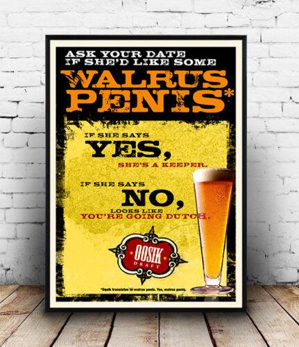 Walrus Penis Old Beer Advertising Poster reproduction Ooosik