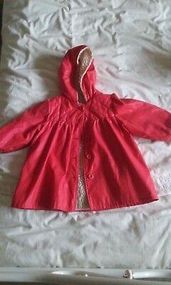 Bello Vintage 80s Ragazze Cappotto Invernale (mothercare)-mostra Il Titolo Originale Abbiamo Vinto L'Elogio Dai Clienti