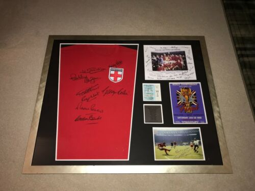 England 1966 World Cup Winners Shirt Signed By 9 Players Plus Extras