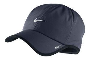 New Nike Feather Light Cap Hat Dri Fit Run Tennis 595510-451 ... 7ed445fc962