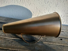 Mégaphone vintage 35cm, porte voix film, studio de cinéma, objet rétro, pub.