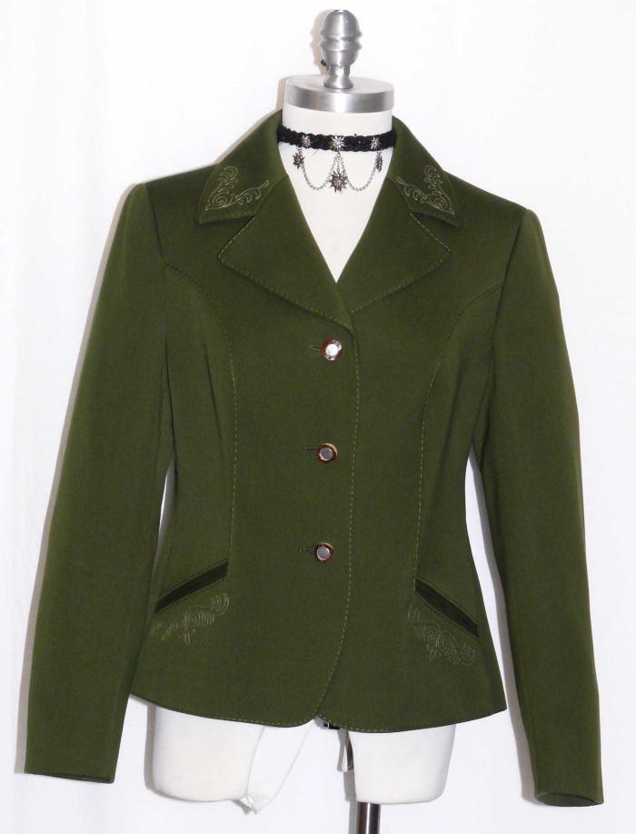 verde  Lana Mujeres  Austria Bordado Corto Caza Equitación Chaqueta Dirndl 8 S  venta con alto descuento