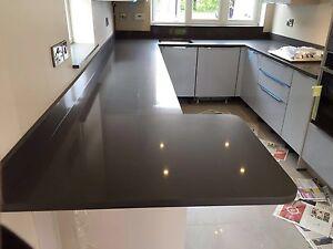 Grey Dark Quartz Kitchen Worktop Samples Ebay