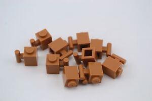 12 Pcs LEGO 3005 Medium Dark Flesh 1x1 BRICK 1 x 1 Building Blocks